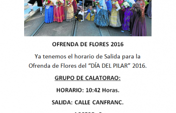 Ofrenda flores Pilar 2016